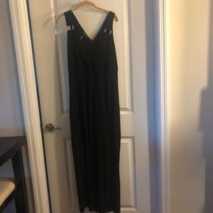 INC Plus Size Black Jumpsuit 1X Rhinestones